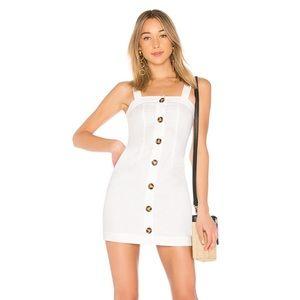 New LPA Revolve Button Up Tank Dress Linen Mini